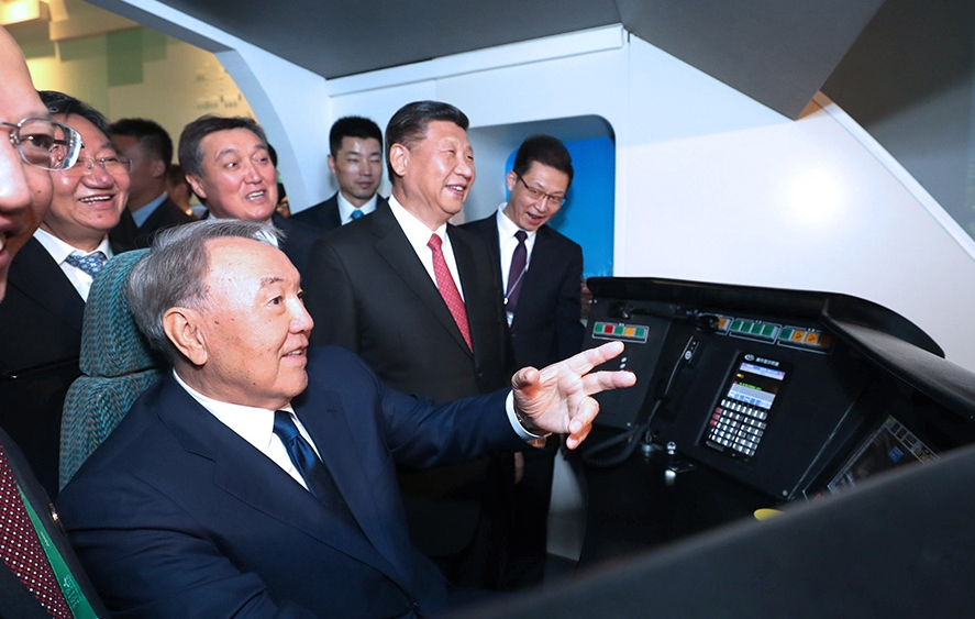 President gets preview tour of pavilion