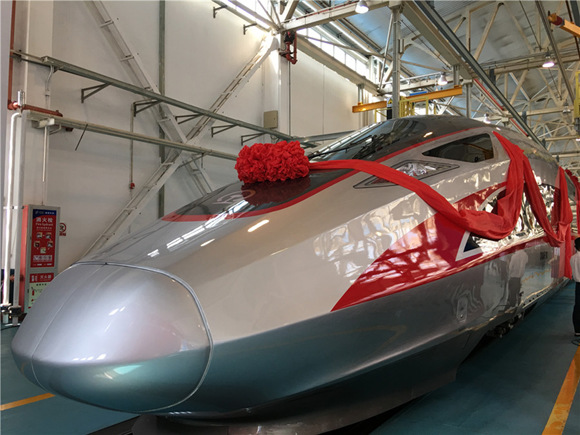 A photo taken on June 25 shows the newly launched bullet train in Beijing. (Photo/chinadaily.com.cn)